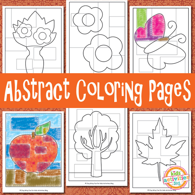 Abstract coloring pages free kids printable for Free printable abstract coloring pages
