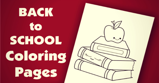 Back to School Coloring Pages Silly School Supplies