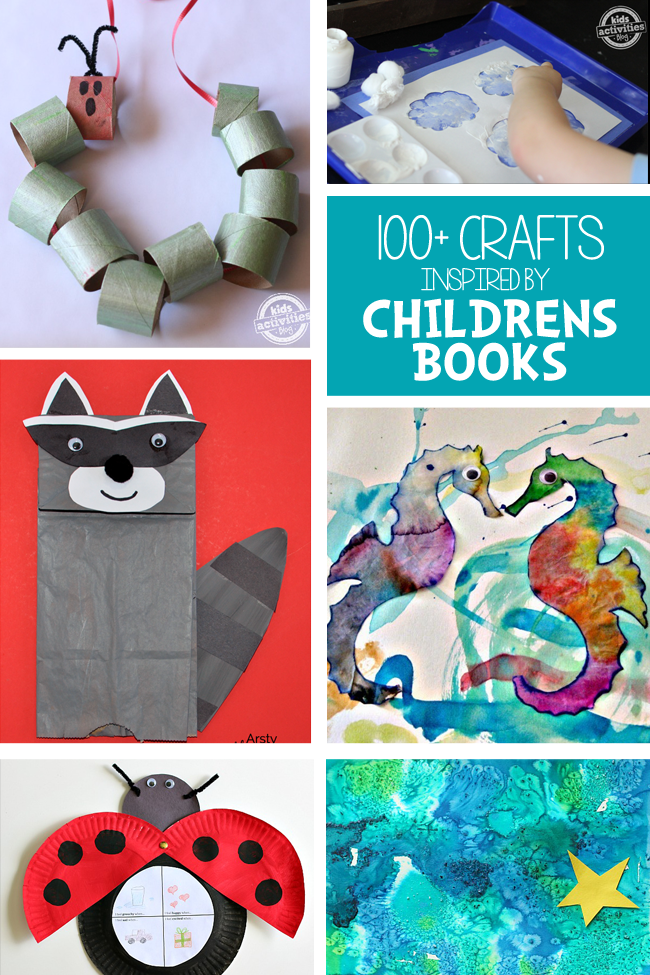 Toddleractivities 100 crafts inspired by children s books for Art and craft books for kids