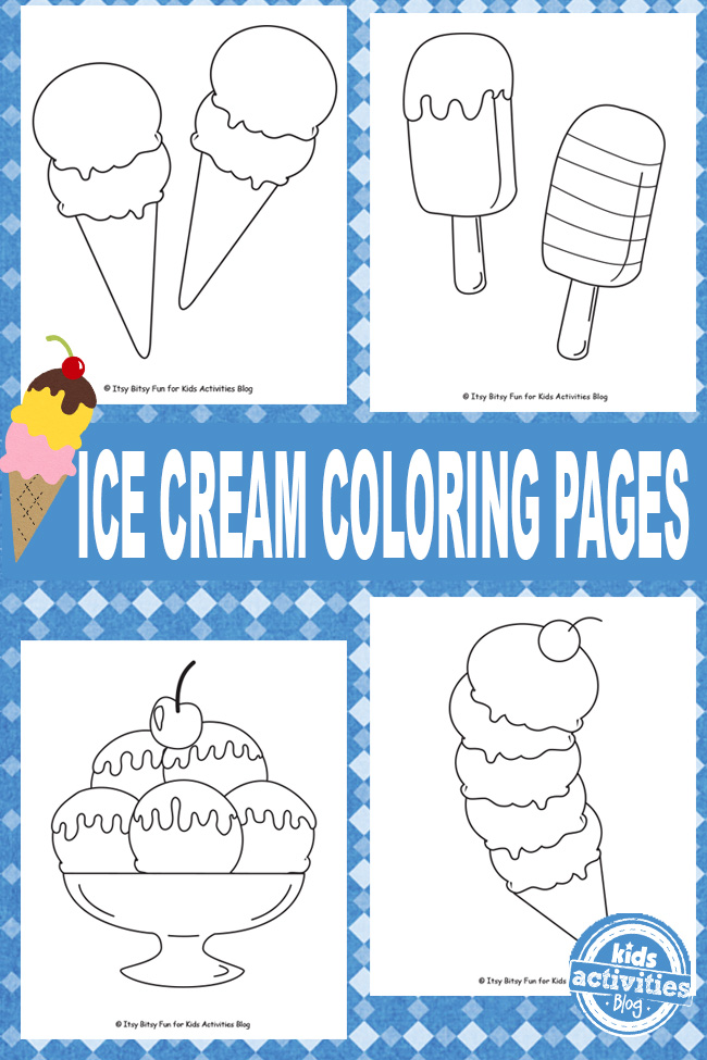 ice cream coloring pages free kids printable