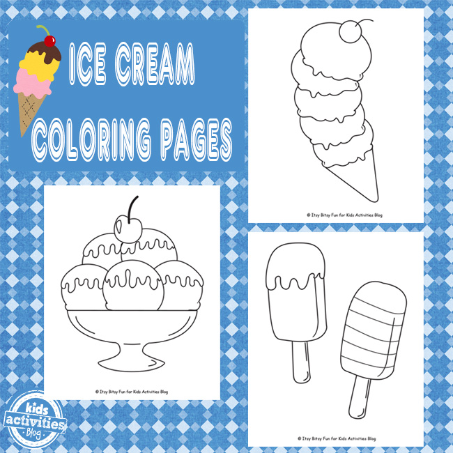 Ice Cream Coloring Pages {Free Kids Printable}