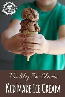 {Kids Cook!} Healthy No-Churn Ice Cream