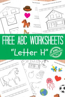 Letter H Worksheets Free Kids Printables