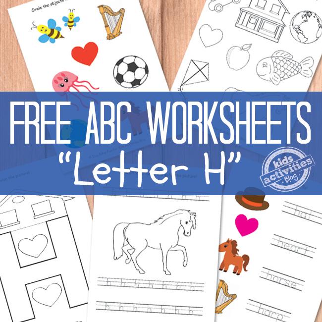 Letter H Worksheets Free Kids Printables – H Worksheets for Kindergarten