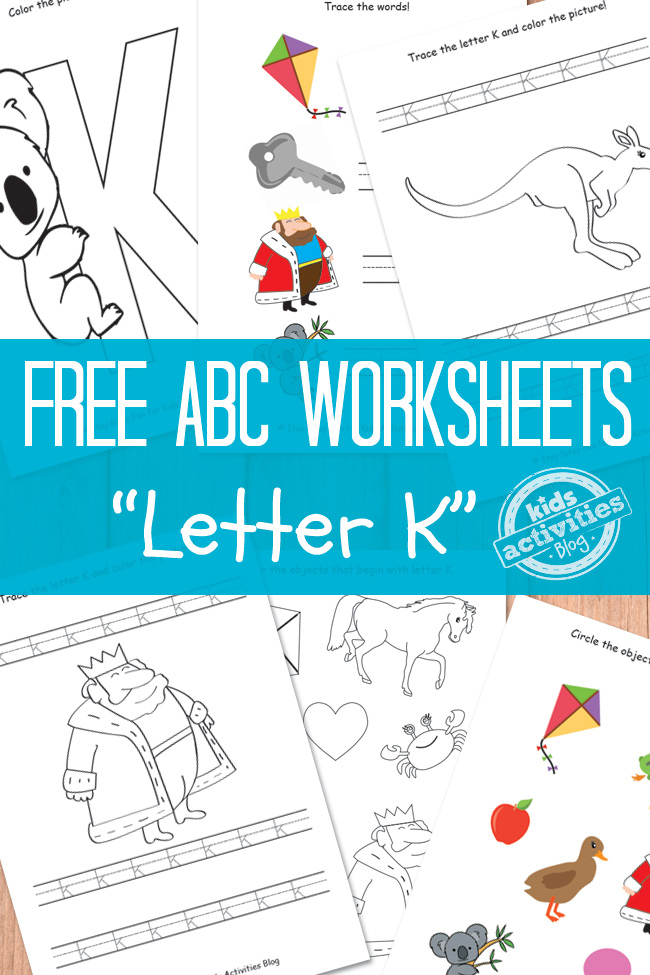 graphic about Letter K Printable identified as Letter K Worksheets Absolutely free Children Printable