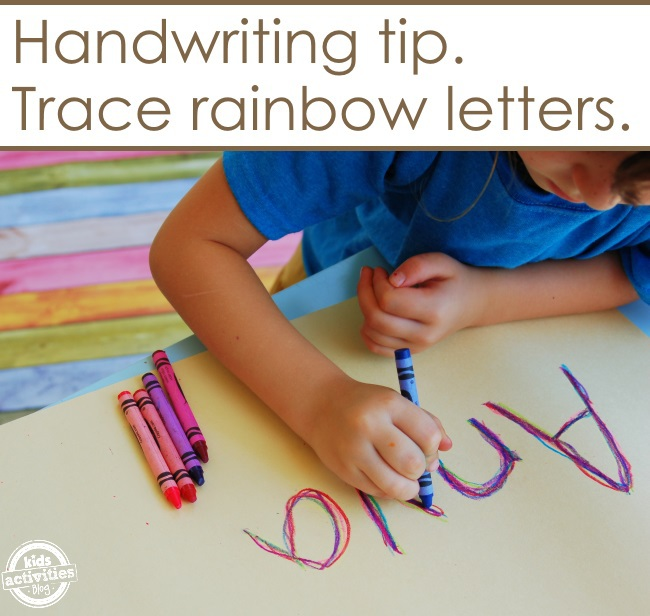 Make a rainbow as you write your name