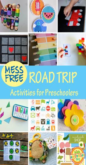 MessFree Road Trip Activities for Preschoolers