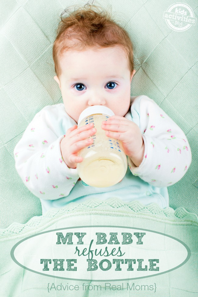 What do you do when baby refuses to take a bottle? Advice from real moms