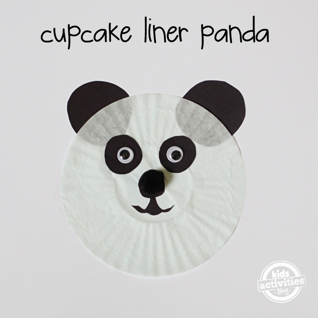 Panda Bear Cupcake Liner Craft