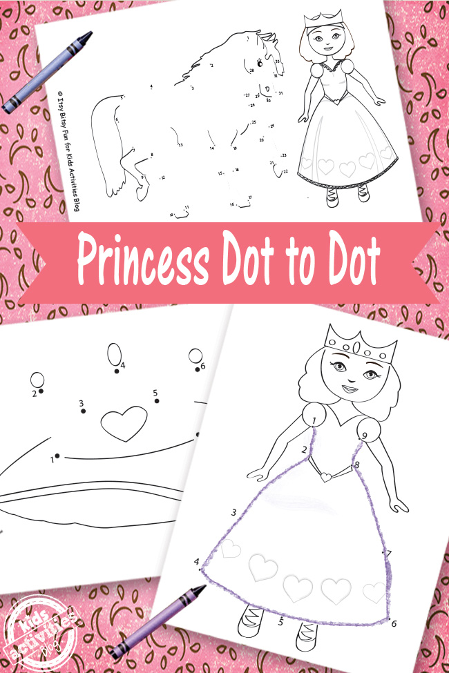 Princess Dot to Dot Free Kids