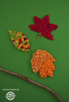 Fall Craft: Tissue Paper Leaves