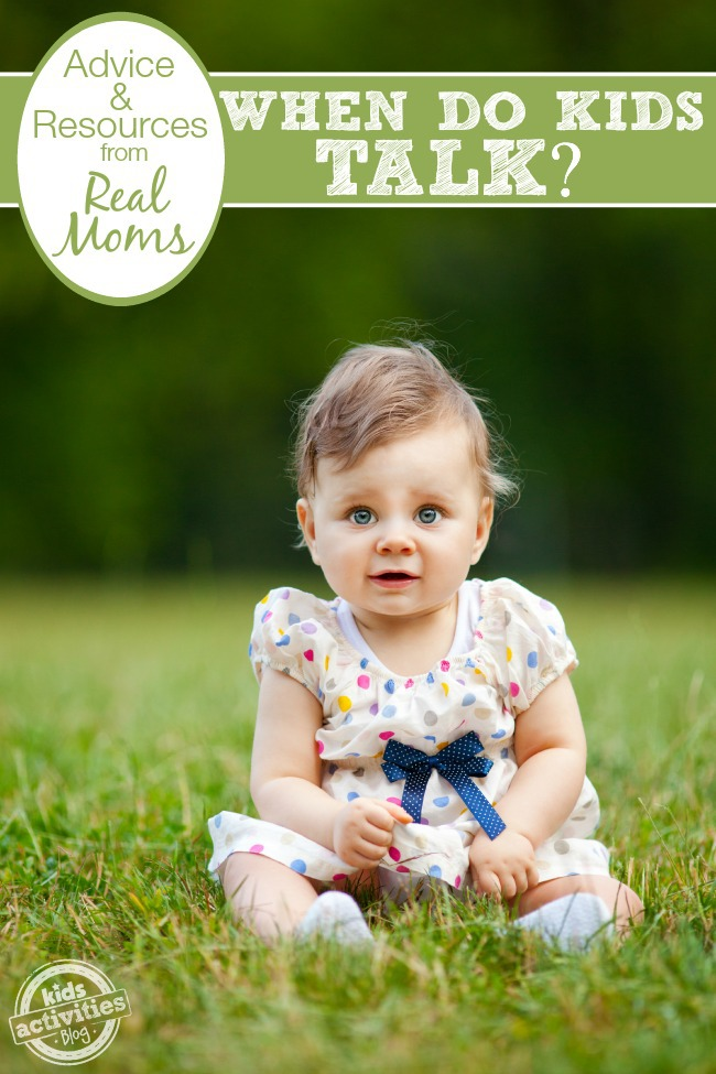 When do kids start talking? Should I be concerned if mine isn't? Great advice here from real moms who've been there.