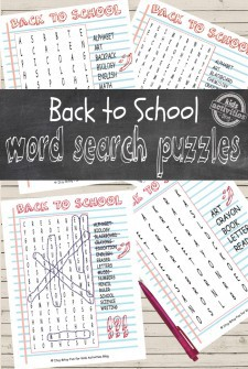 Back to School Word Search Puzzles Free Kids Printables