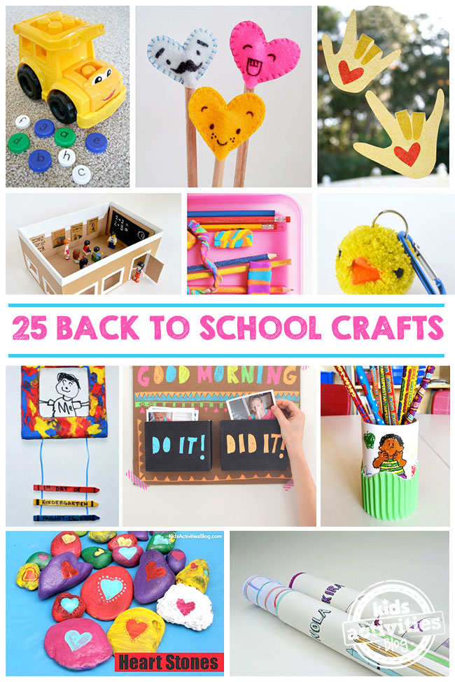 25 back to school crafts to make this school year fun for Art and craft for school decoration