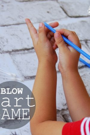 blow dart game made from Q-Tips