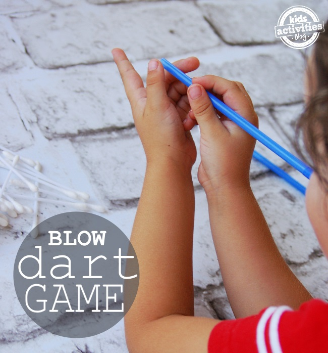 Q-Tip Blow Dart Game