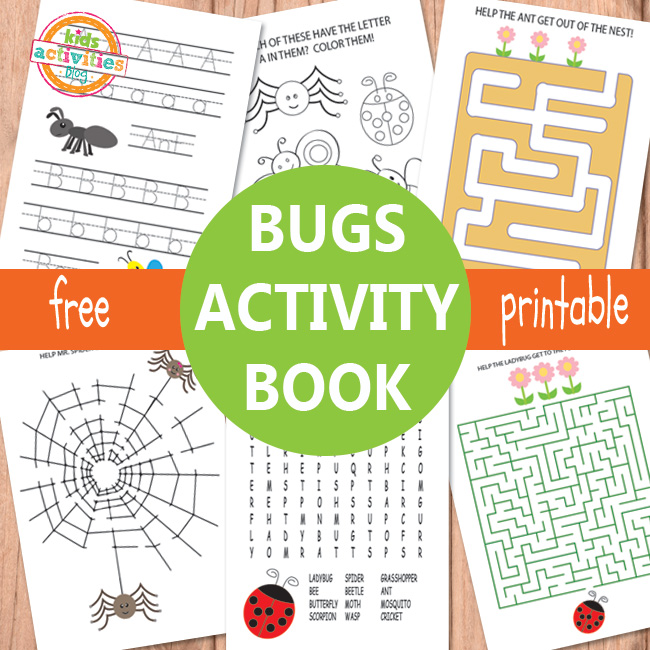 Number Names Worksheets free activity sheets for kids : Bugs Activity Sheets Free Kids Printable