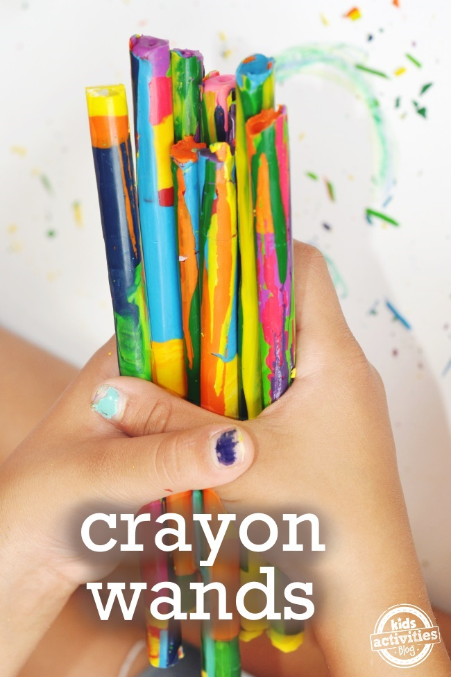 diy crayon wands