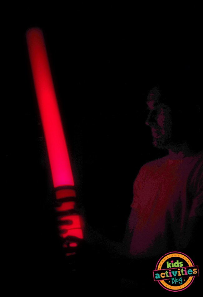 diy lightsaber lights up
