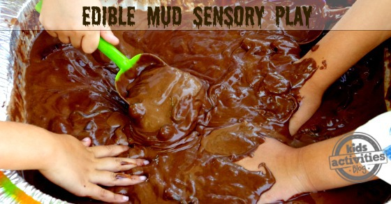 edible mud sensory play kids tactile