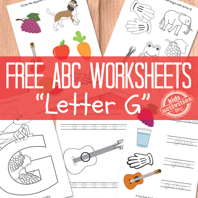 Letter G Worksheets Free Kids Printable