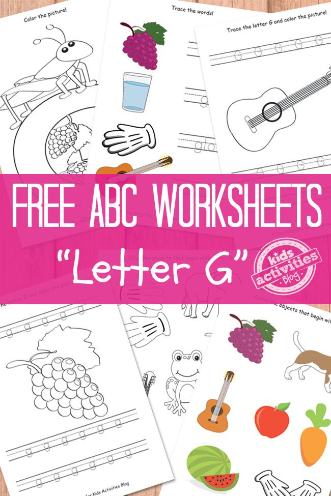 Letter G Worksheets Free Kids Printables – Letter G Worksheets for Kindergarten