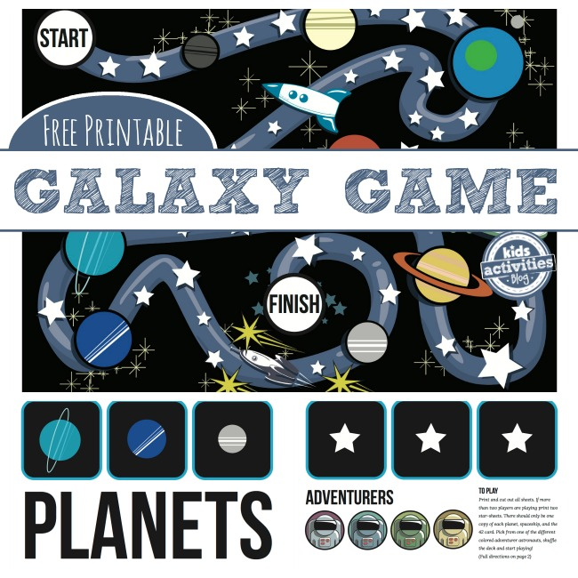 Galaxy Game - a Free Printable Game for Kids