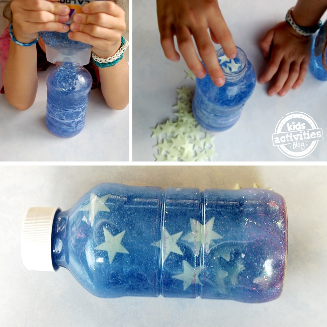 help kids sleep with a glowing bed time calming bottle