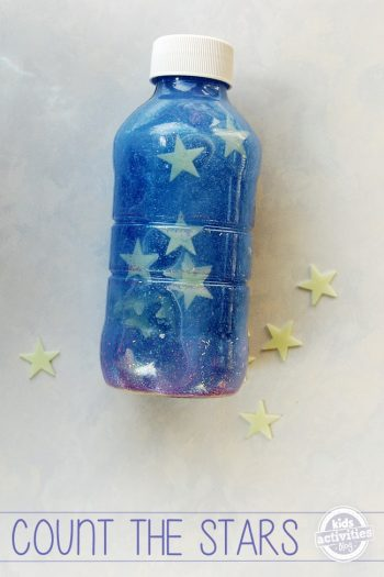 have your kids count the stars in the bottle as they go to sleep