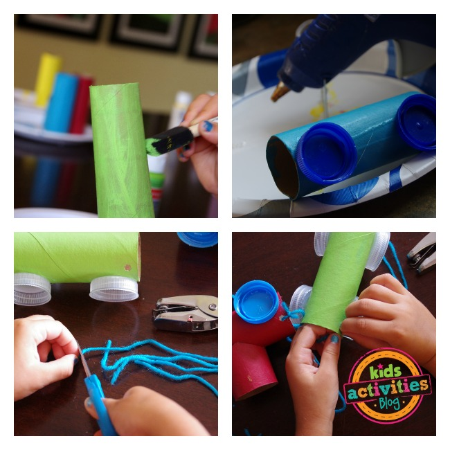 Toilet paper roll train craft for How to make something with newspaper