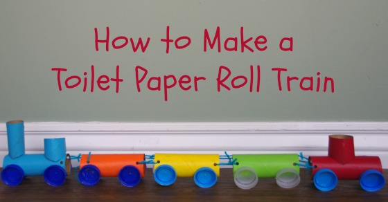 how to make a train from toilet paper rolls