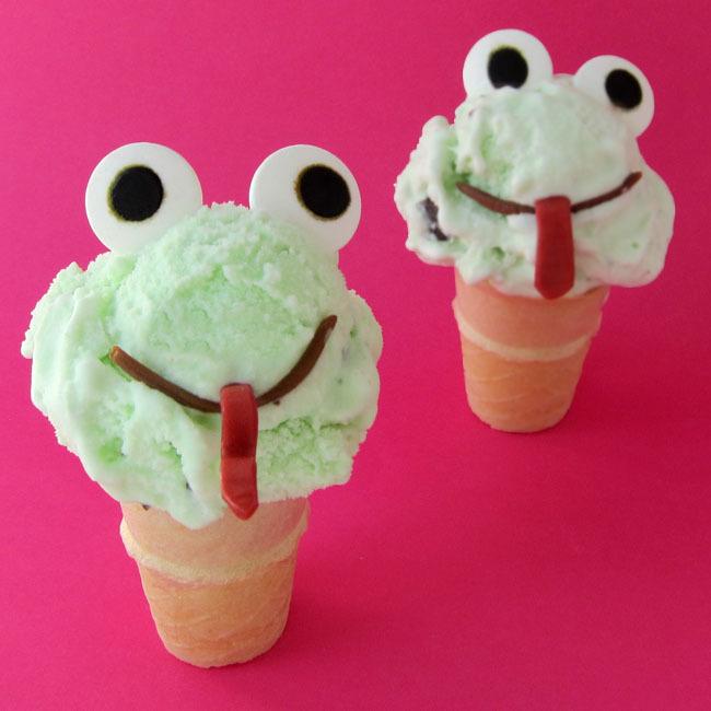 ice cream cone animals