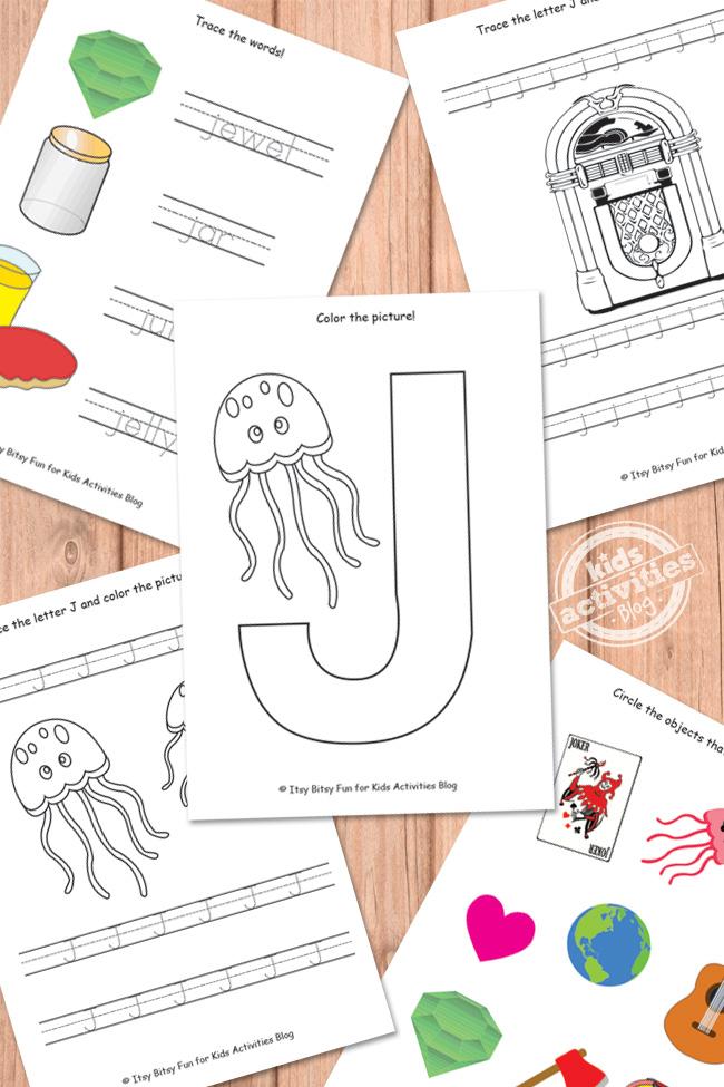 Letter J Worksheets Free Kids Printable – Letter J Worksheet