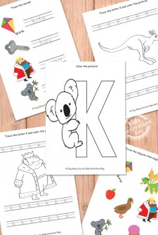 Letter K Worksheets Free Kids Printable