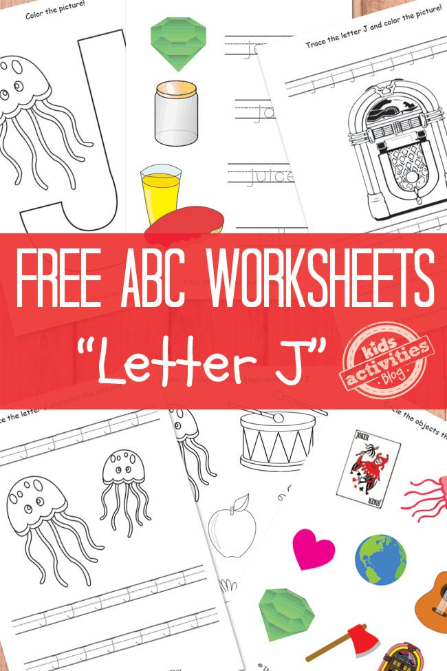Letter J Worksheets Free Kids Printable – Letter J Worksheets