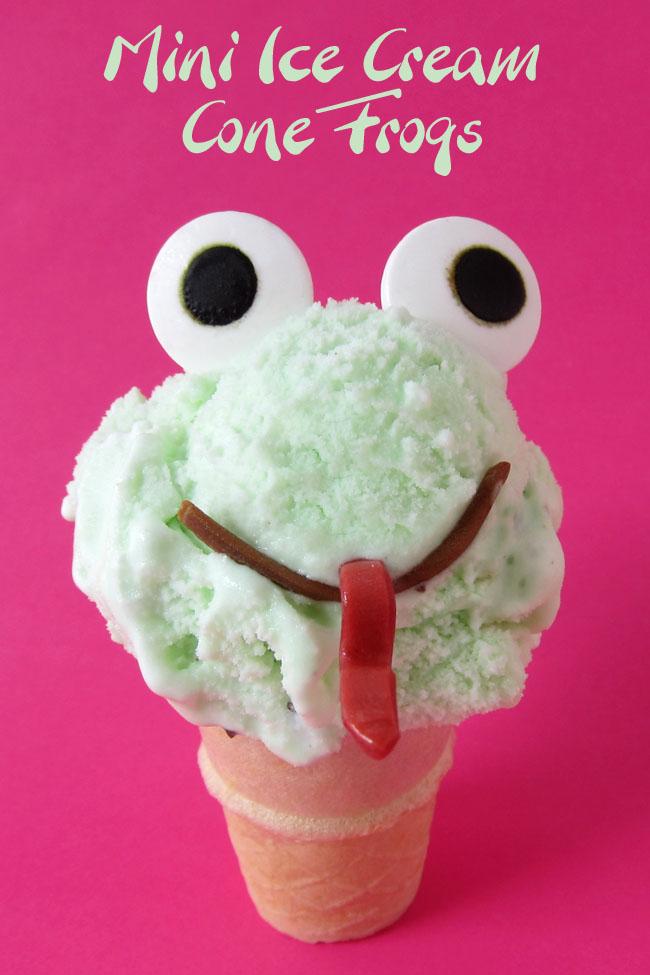 Mini Ice Cream Cone Frogs