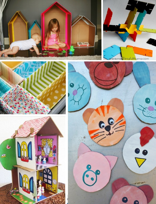 more things your kids can do with card board boxes