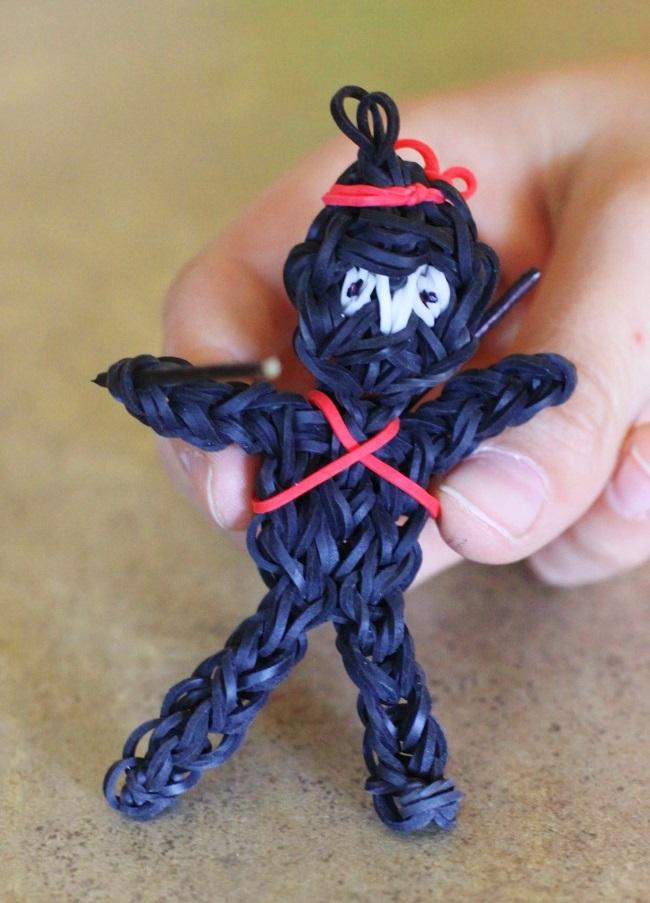 ninja man rainbow loom charm for kids to make