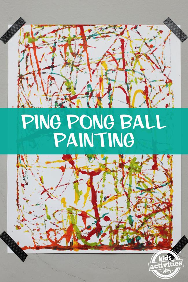 Ping Pong Ball Painting