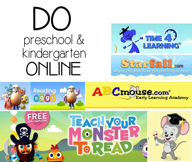 prek and kingergarten online curriculum