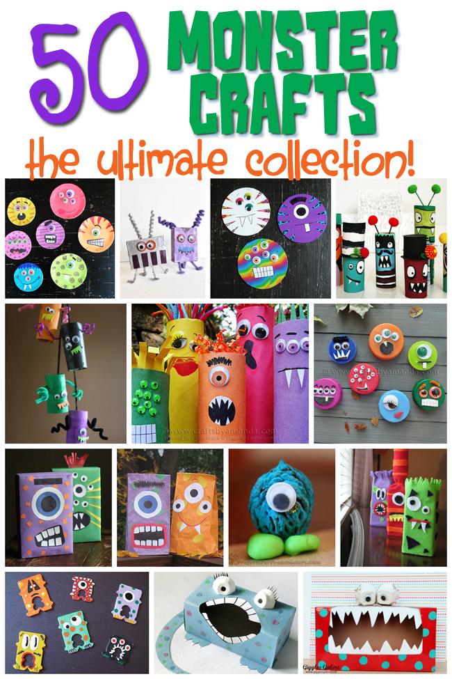 monster craft ideas 50 crafts for for any time of year 2503