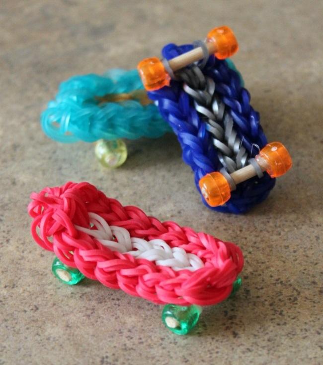 skateboard charm for kids to make
