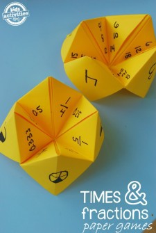 Paper Math Games: Fractions and Multiplication