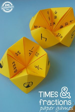 times and fractions paper games