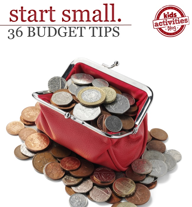 SAVE MONEY!  36 budget tips for families