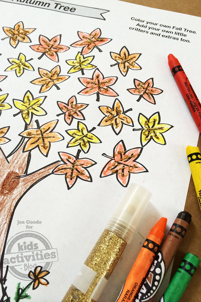 Free Kids Printable Fall Tree Coloring Page Free Tree Coloring Image