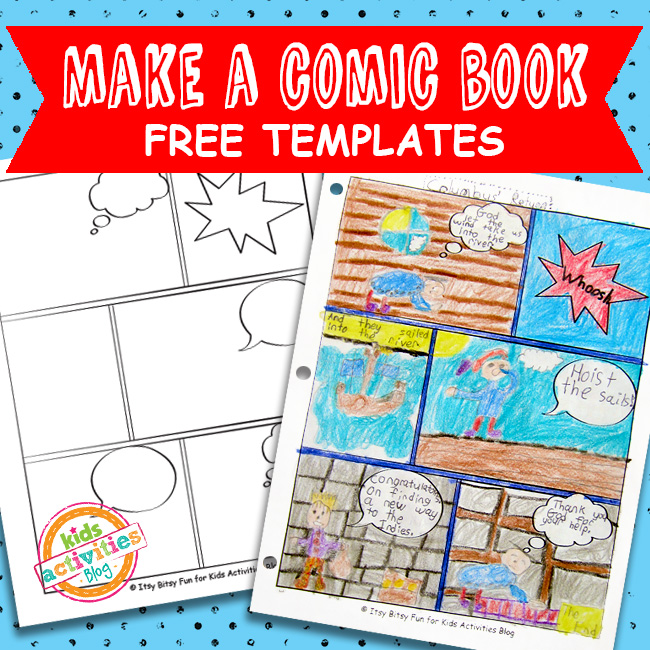 Comic Book Templates Free Kids Printable