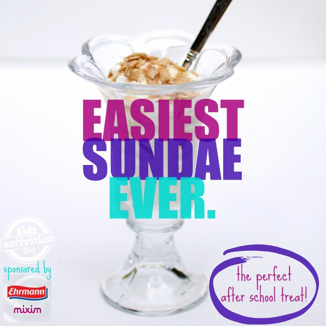 Easiest Sundae Ever - Kids Activities Blog
