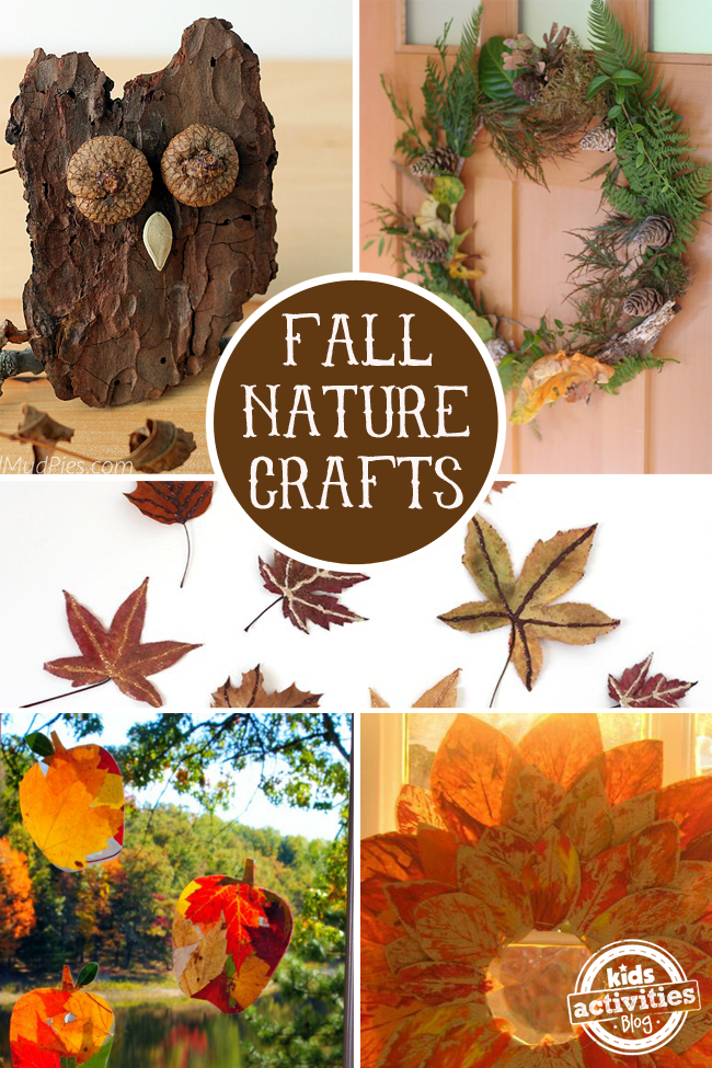 16 fall nature crafts for preschoolers for Fall ideas crafts