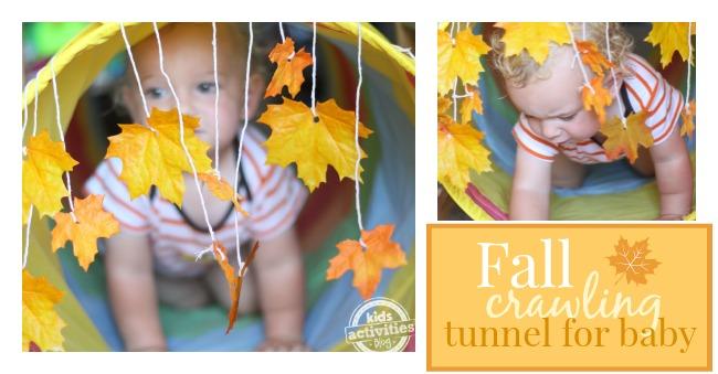 Jeu de bébé simple qui est parfait pour l'automne!